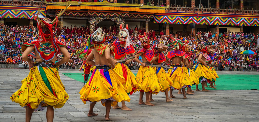 Tshechu - Bhutan Mask Dance Festival